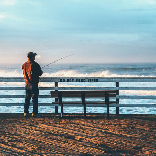 What are the ways to purchase fishing gear stores?